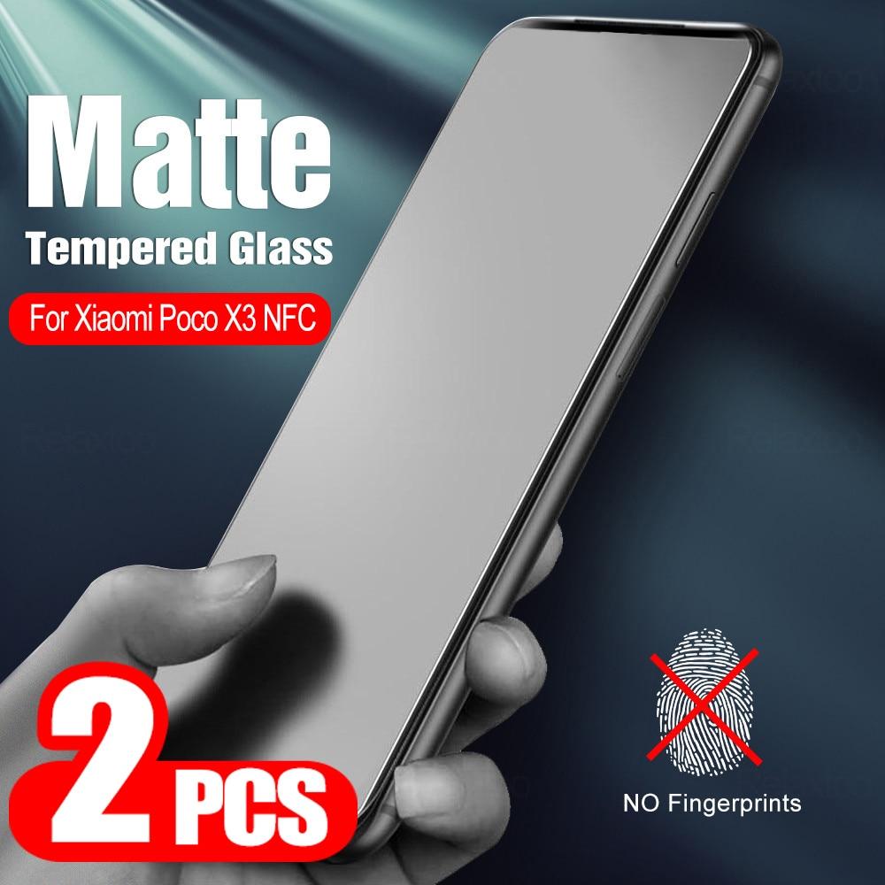 2pcs-on-poco-x3-matte-glass-screen-protective-glass-for-xiaomi-poco-x3-nfc-glass-for-xiaomi-pocophone-x3-screen-protector-film