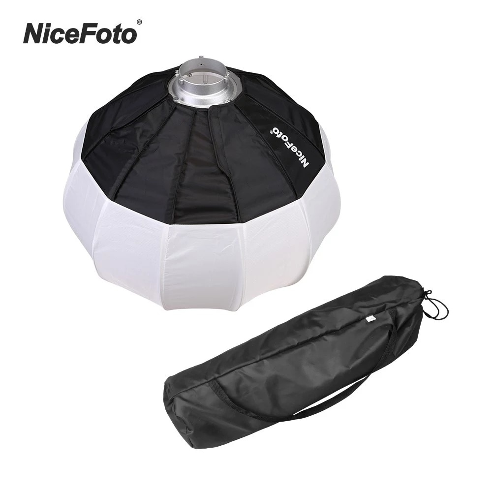 Nicemoto 50cm 20 polegadas dobrável lanterna estilo softbox com bowens montagem rápida-instalar portátil para speedlite estúdio flash estroboscópio