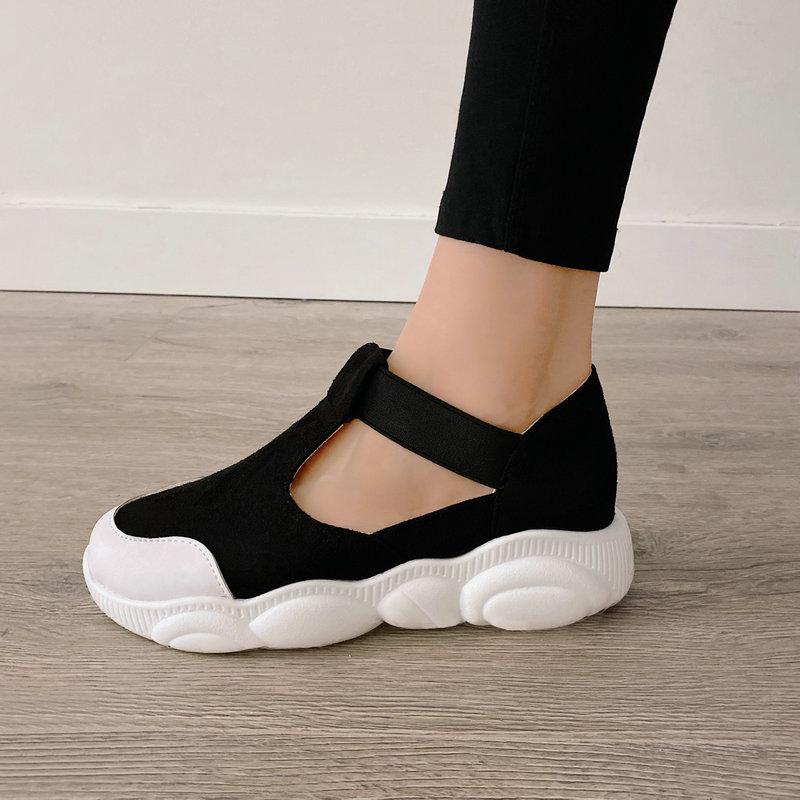 LDHZXC 2021 Size29-46 Frauen Pumpt Runde Kappe Elastice Band Frühling Sommer Einzigen Schuhe High Heel Kleid Schuhe Damen Casual Schuhe