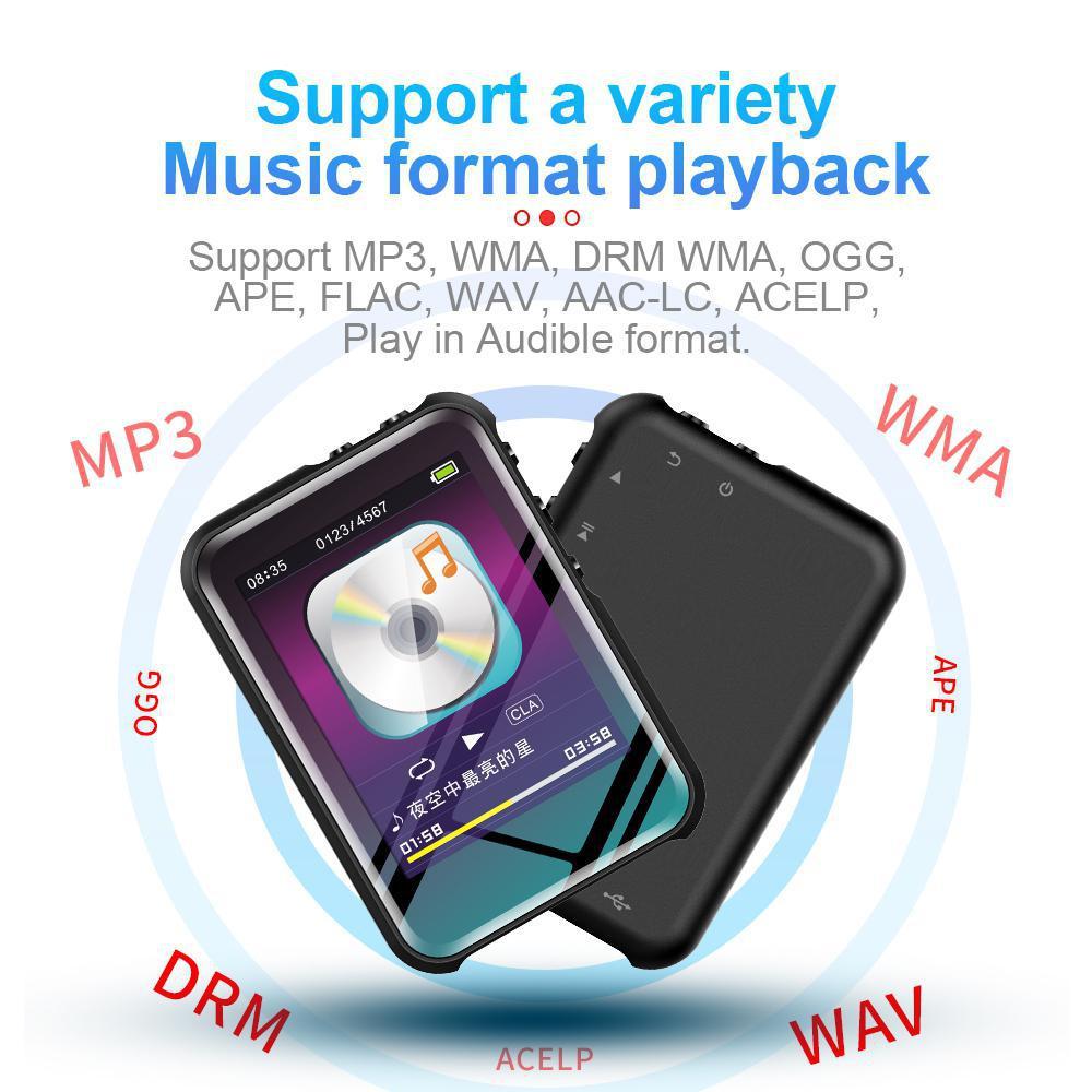 Reproductor de MP3 Portátil con Bluetooth M16 altavoces de música deportiva de alta fidelidad grabadora de Radio Media FM para estudiantes de aprendizaje de inglés