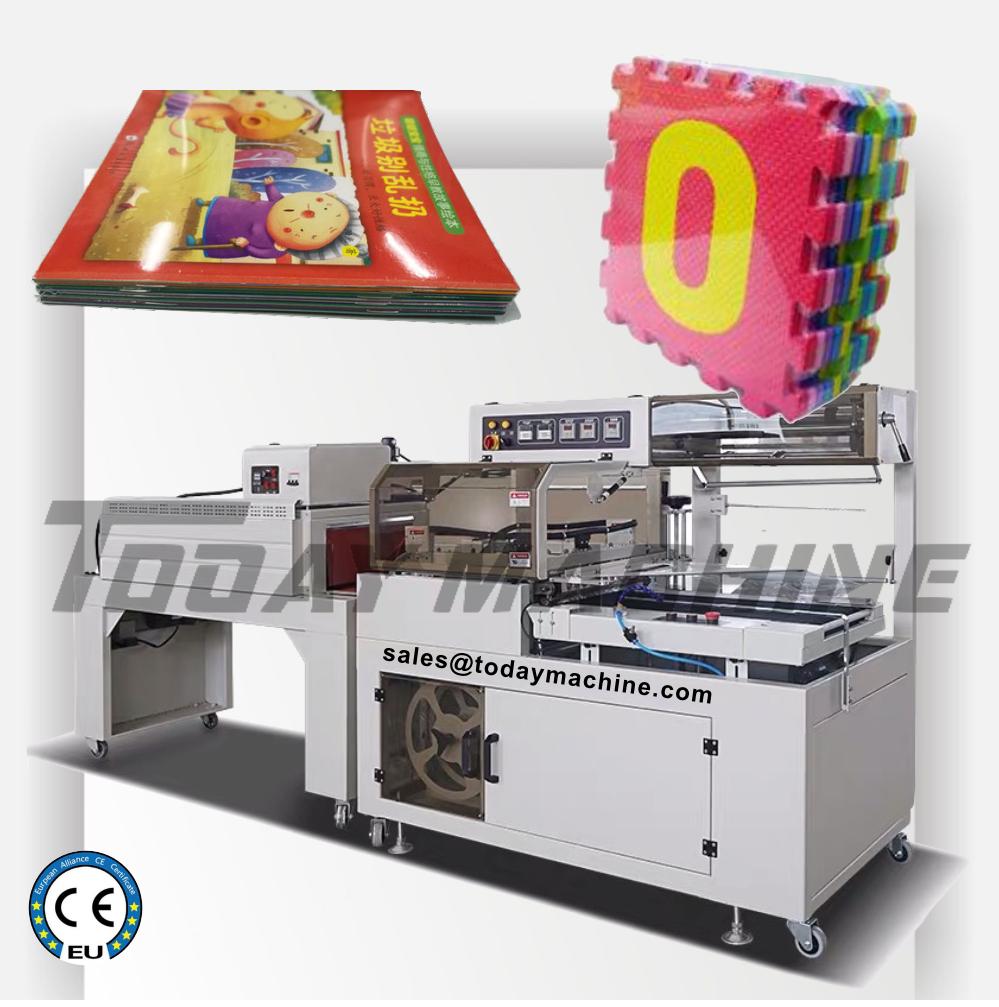Máquina de sellado y corte de alta velocidad, máquina de encogimiento, caja de zapatos, caja de cartón, Marco cosmético portarretratos, termoretráctil automático