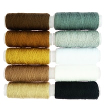 Cordon de fil de Polyester épais 10x   Pour sac en Denim à boutons, couture artisanale arc-en-ciel, couture de maison pour tricot à la main, fils pour vêtements