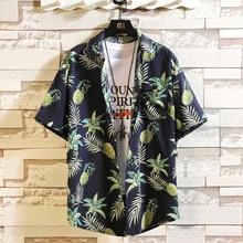 Chemise de plage à manches courtes pour hommes, ample, motif Floral, grande taille asiatique, 2020 5XL, chemises décontractées