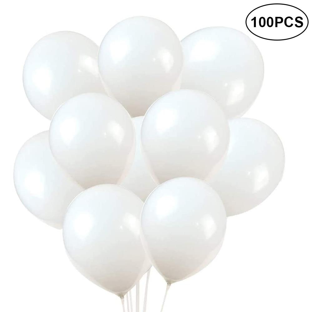 10/30/45/100pcs Balloons Latex Balloons Kids Toys Festival White Ballons Party Supplies Home Decoration with Rope Helium Tank