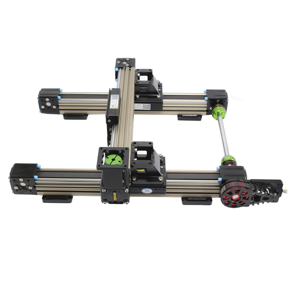 Mjunit MJ45N النسيج قطع أتمتة آلة خطي السكك الحديدية المحرك xy محور حزام مدفوعة الشريحة الجدول العملاقة روبوت