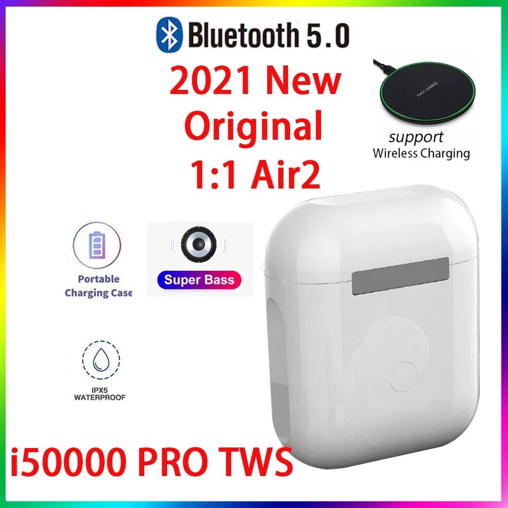 Original i50000 PRO TWS 1:1 GPS nombre auriculares Bluetooth inalámbricos PKi7 i11...