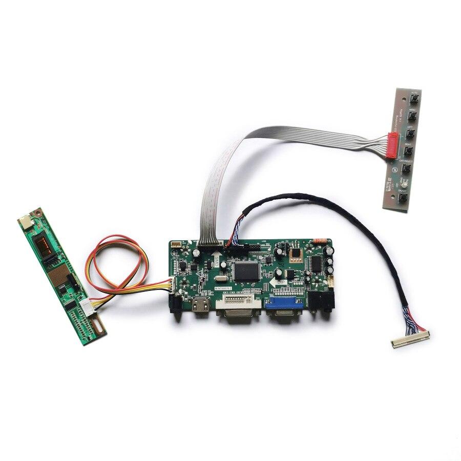 مجموعة وحدة تحكم العرض ، لـ LTD141EA0D/LTD141EACV/LTD141EC7D/LTD141LA2S VGA + DVI LVDS 1024*768 1CCFL 30-Pin M.NT68676