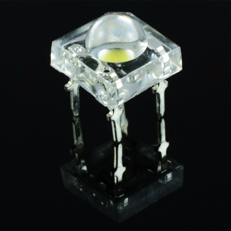 Diodo LED de piraña de 5mm de 50 Uds. Diodos emisores de luz blanca ledes piraña 5mm de brillo diodos de cabeza redonda blanca