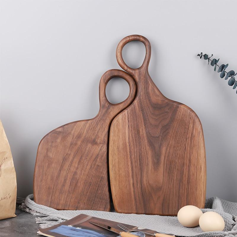 Black Walnut Wood Cutting Board Solid Wood Creative Whole Wood Bread Tray Fruit Chopping Board