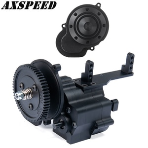 Alloy CNC Chassis Gearbox Center Transmission Case Transfer Case 2 Speeds with Housing Cover for Axial SCX10 Wraith 90018 90048
