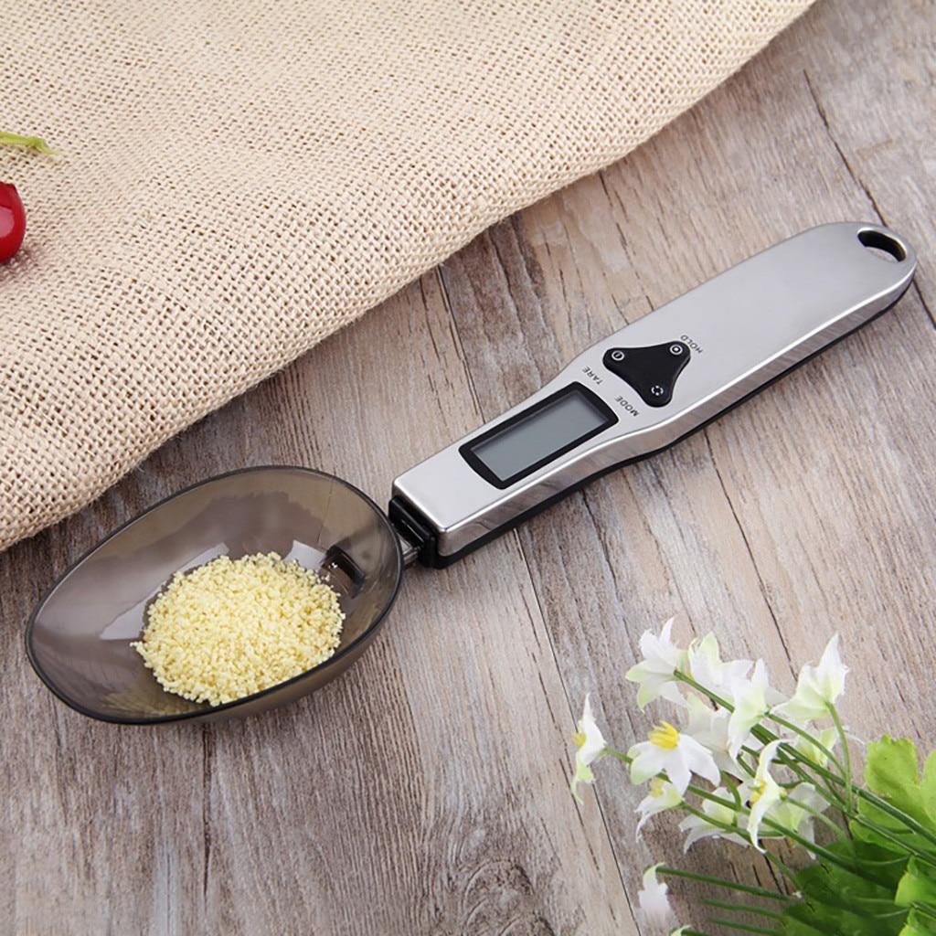Nueva llegada de plástico de acero inoxidable de moda 500g/0,1g electrónica LCD Digital cuchara peso escala Gram cocina laboratorio escala caliente