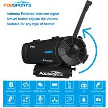 Fodsports-casque Moto FX8   1000m de conversation, Bluetooth, Interphone Moto, sans fil BT, Interphone avec Radio FM