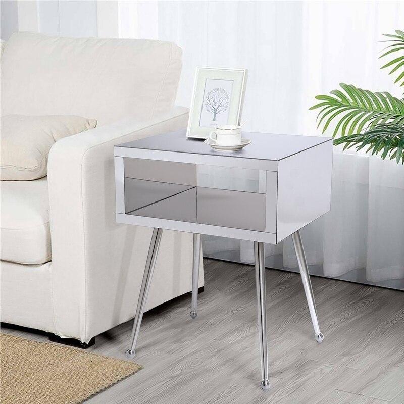 منضدة غرفة نوم مع مرآة المنزل أريكة طاولة جانبية مرآة الغرفة المعيشة نهاية الجدول