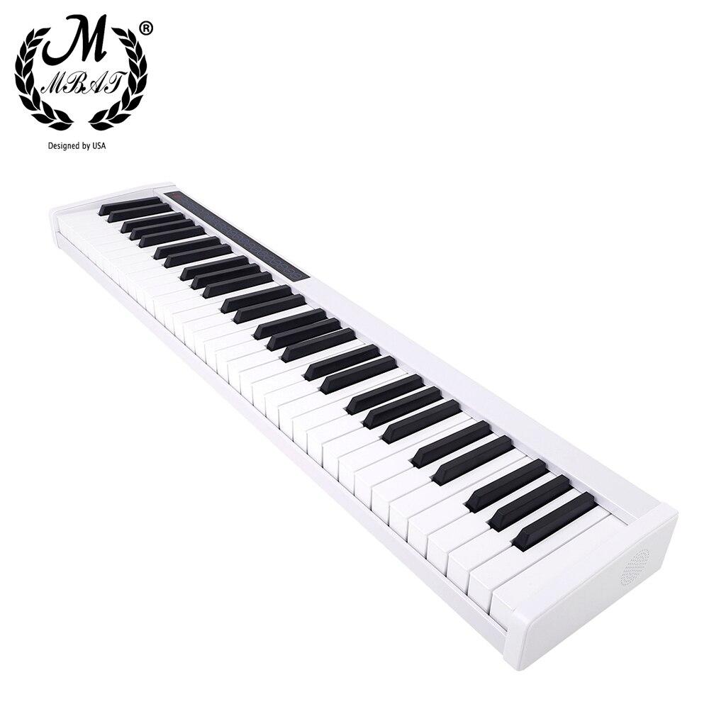 M MBAT 61 Keys Intelligent Electronic Piano Keyboard MIDI Output 128 Tones 128 Rhythms 20 Demo Songs Portable Professional Piano enlarge
