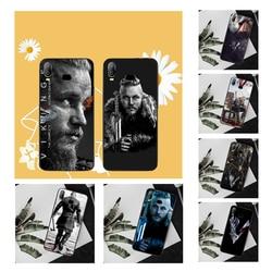 Ragnar Lothbrok NBDRUICAI Vikings Tampa Da Caixa de Telefone Para Samsung A10 A20 A30 A40 A50 A70 A71 A51 A6 A8 2018