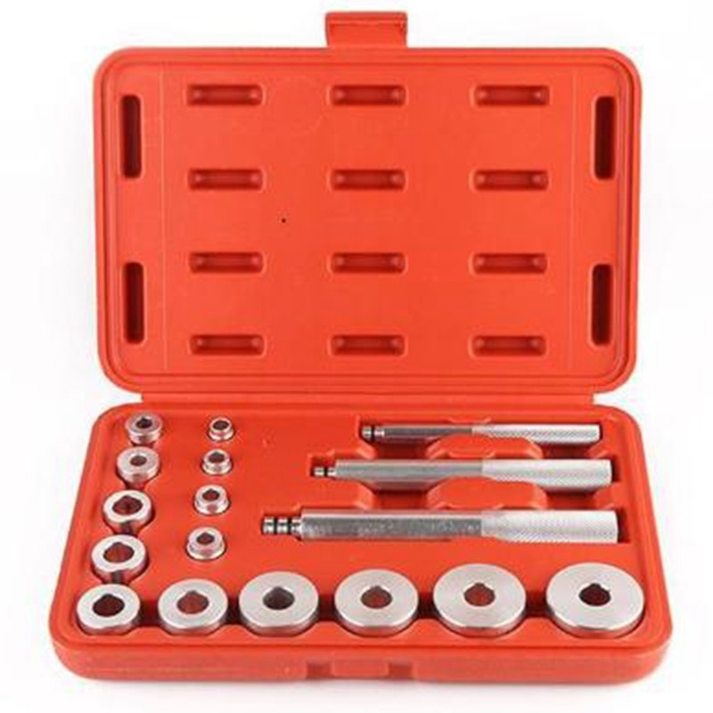 ¡Oferta! 17 Uds herramientas de coche, extractor de volante, herramienta de extracción de coche, dispositivo de rodamiento de rueda, dispositivo para desmontar el Kit de herramientas de garaje