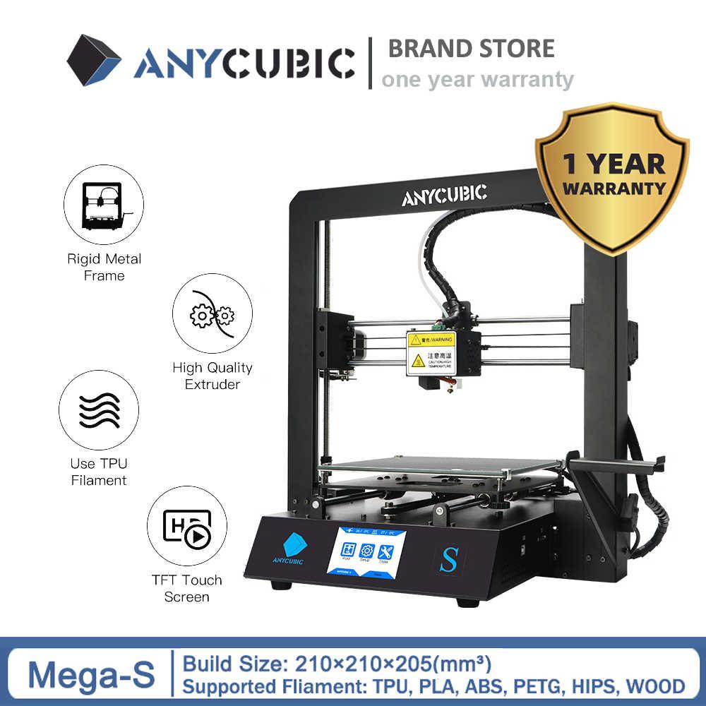 New 2020 Anycubic I3 Mega S 3d Printer Upgrade 3d Print Kits Plus Size Full Metal Touch Screen 3d Printer 3d Drucker Impresora 3d Printers Aliexpress