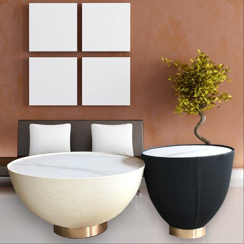 شمال أوروبا روك لوحة طاولة شاي غرفة الجلوس كبيرة وصغيرة السلطانية روك لوحة مزيج طاولة شاي