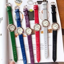 Fashion Women Watches Leather Strap Original Buckle Black Couple Quart Watch Gift First Choice Montr