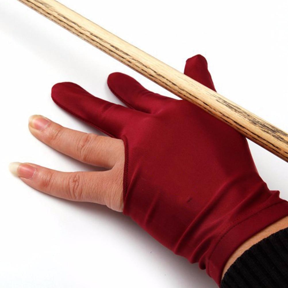 Guante de taco de billar inglés de 4 colores, 1 Uds., accesorio de Tres dedos abierta para la piscina, Unisex, para mujeres y guante para hombres