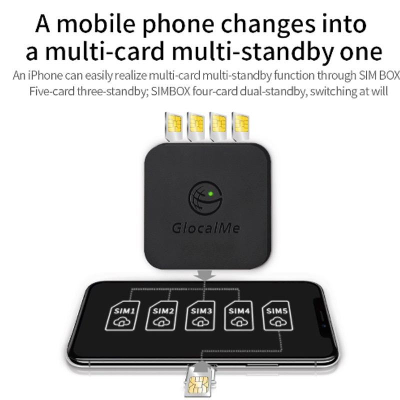 Multi 4 SIM Dual Standby No Roaming 4G SIMBOX SIM Remote Router ,No Need Carry ,work with WiFi / Data to Make Call &SMS enlarge