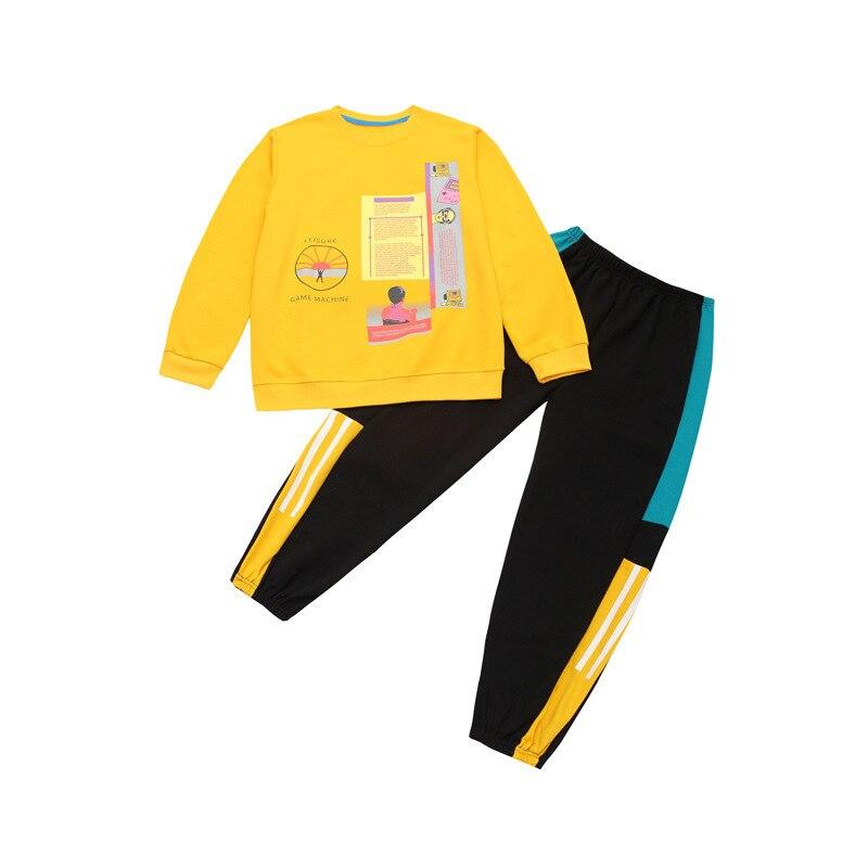 Kids Sets For Girls 6 8 10 12 14 Years Fashion Cartoon  Kids Girl Suit Spring Autumn Teen Girls Coat + Pant 2Pcs Clothing Sets