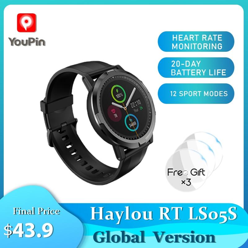 2021youpin haylou rt ls05s smartwatch global versao mais recente monitor de frequencia