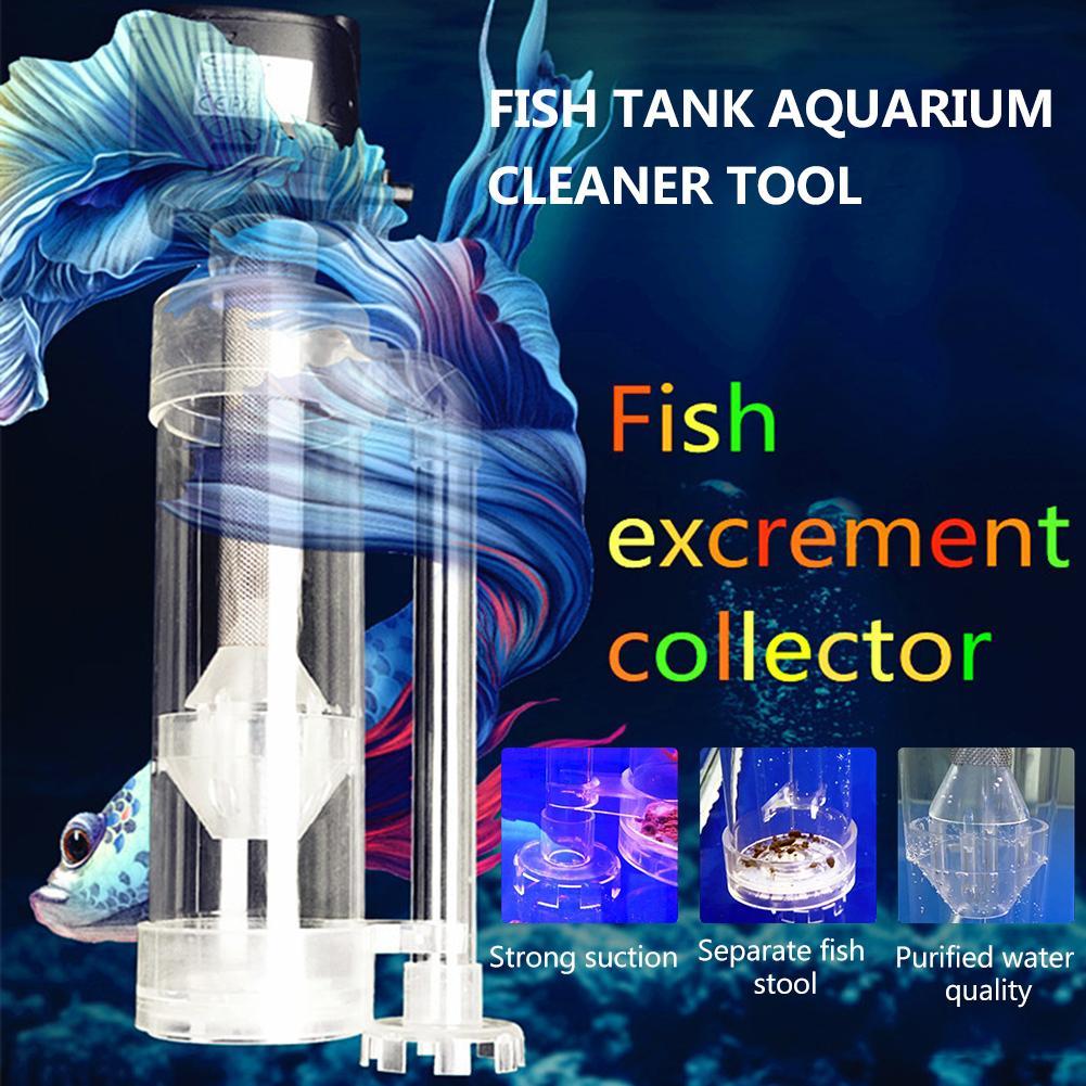 Аквариум для аквариума, инструмент для очистки рыбы, туалет, аквариум для рыб, фильтрующий сепаратор, сепаратор для сбора рыбных экскремент...