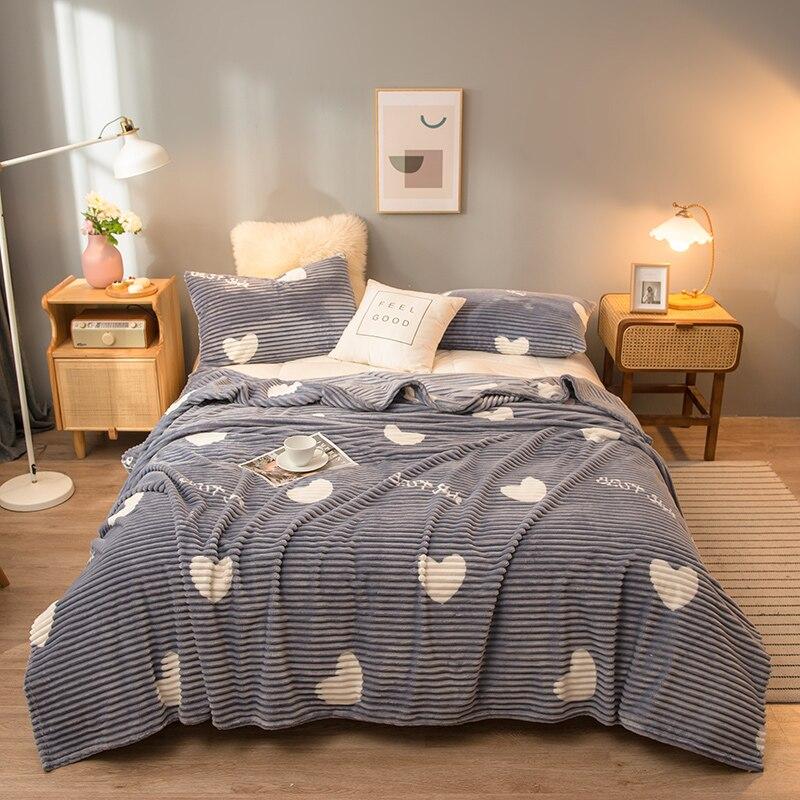 طقم سرير مخملي ، طقم سرير شتوي فاخر ، دافئ ، سميك ، صوف ، لون خالص ، وردي ، أصفر ، مقاس كينغ