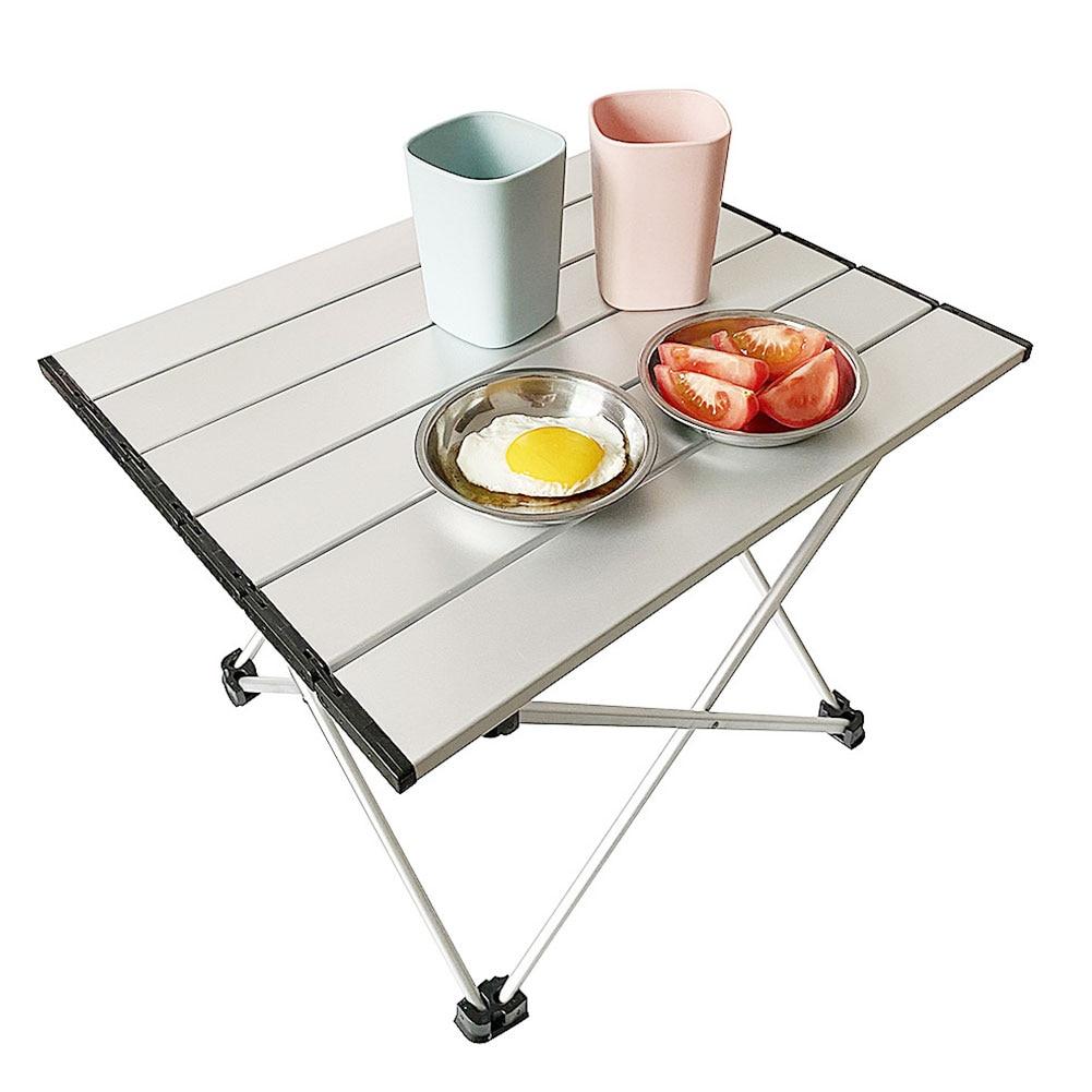 Mesa portátil de aleación de aluminio para exteriores, mueble plegable para acampar,...