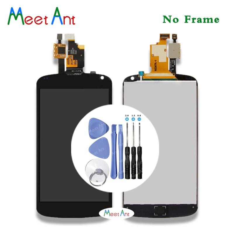 Pantalla LCD de alta calidad de 4,7 pulgadas para LG Google Nexus 4 E960 con montaje de digitalizador con pantalla táctil + herramienta