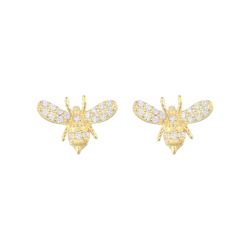 Silver 925 Jewelry Earrings For Women Little Bee Stud Earrings Gold/Silver Jewelry 2021 Trend Bijoux