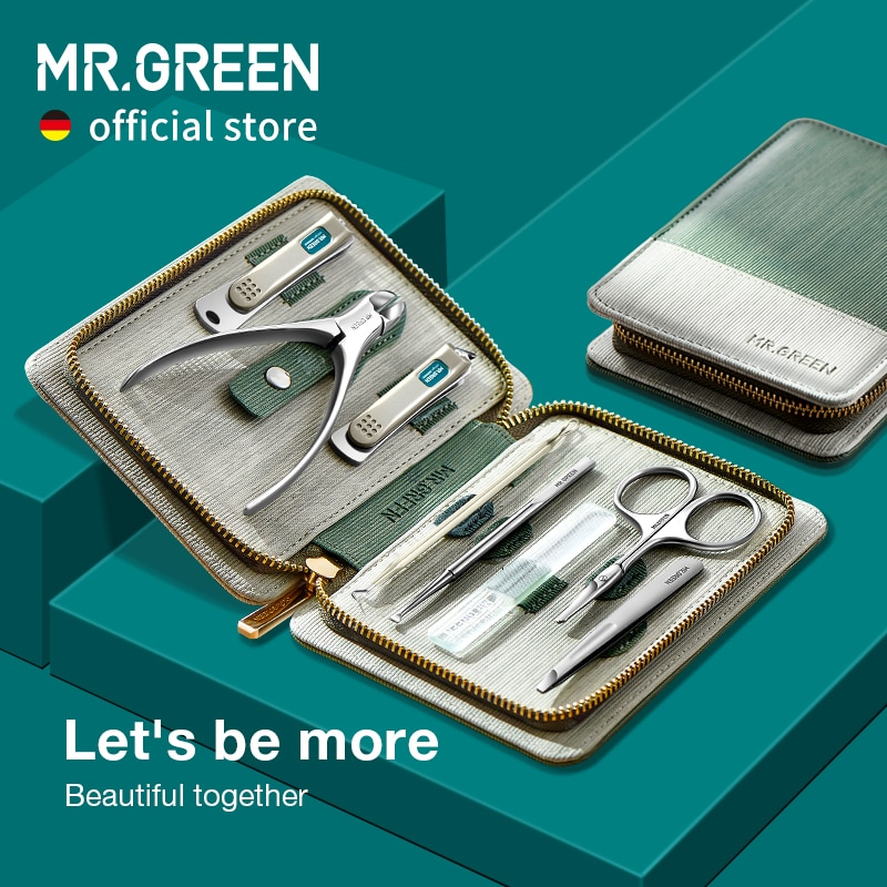 aliexpress.com - MR.GREEN Manicure Set Pedicure Sets Nail Clipper Stainless Steel Professional Nail Cutter Tools with Travel Case Kit