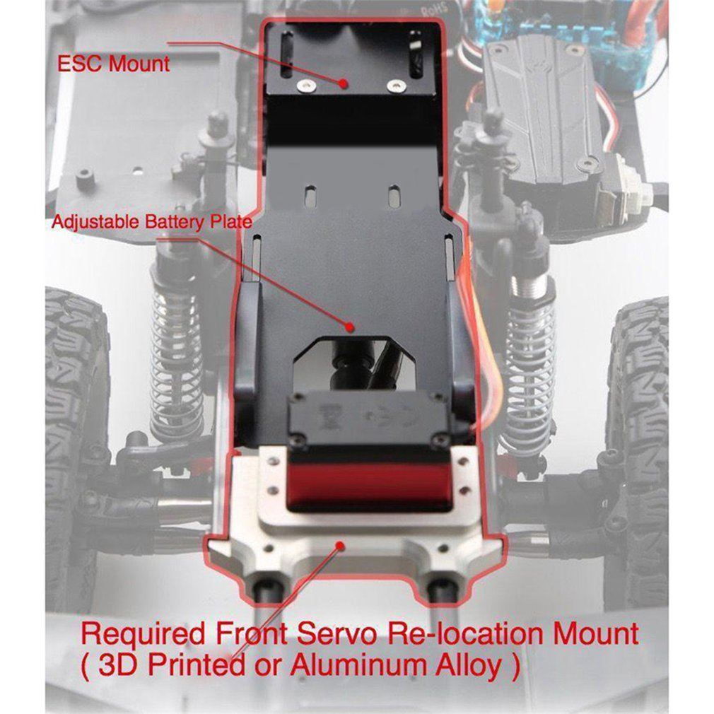 Aluminum Alloy Battery Box For Axial Scx10ii 90046 Climbing Car Remote Control Car Update Accessories enlarge
