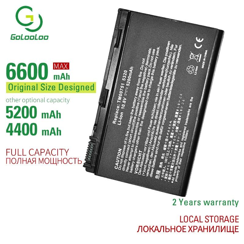 6 CELL nueva batería del ordenador portátil para Acer Extensa 5220, 5235,...