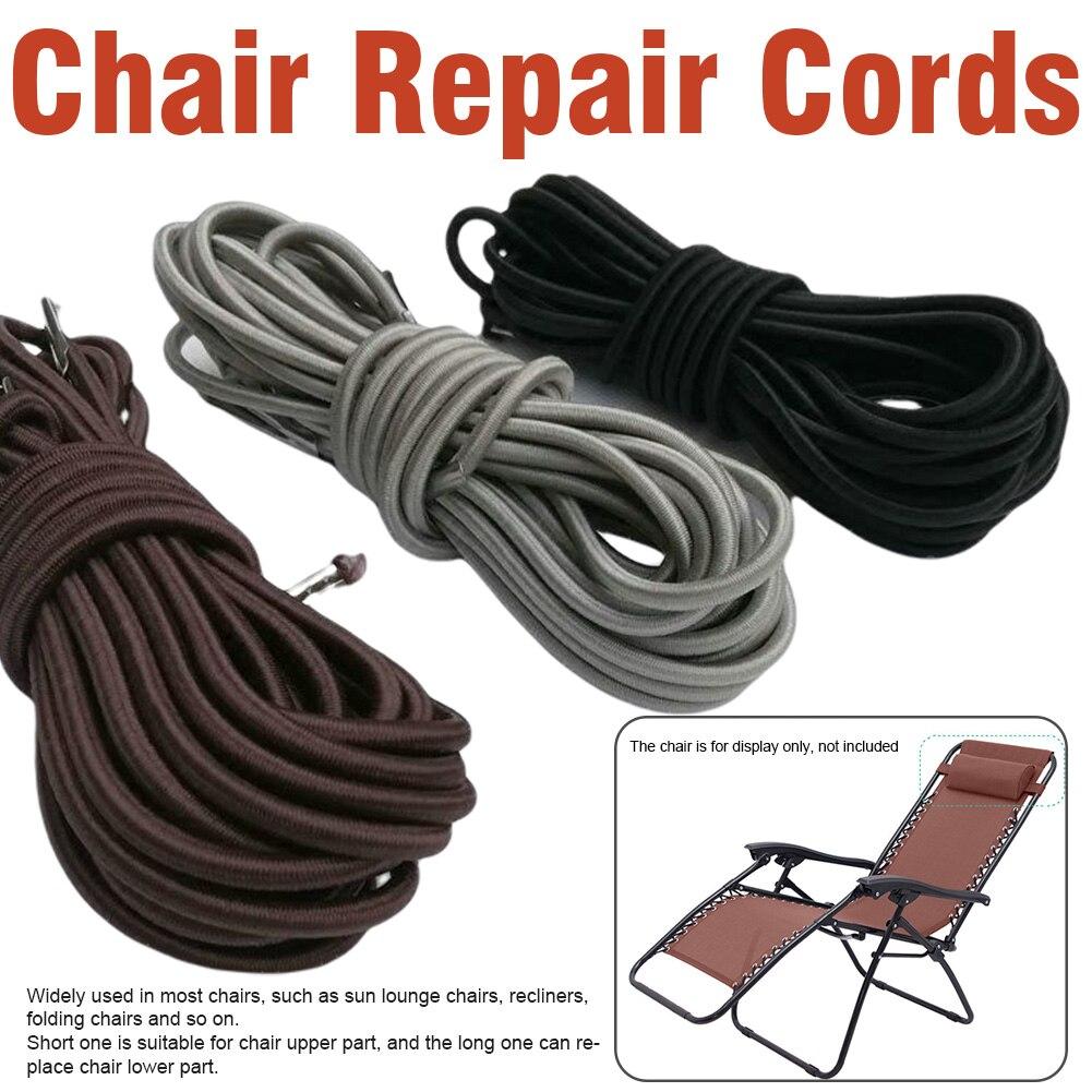Conjunto de 4 unidades de cuerda de Dichotomanthes de múltiples hebras para acampar, tumbonas de sol universales de fijación elástica para silla reclinable, Kit de cable de reparación