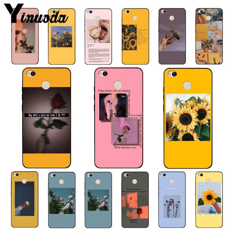 Yinuoda Great Aesthetic art Pink Yellow Sunflower Rose Phone Case for Xiaomi mi5 6 A1 A2 Lite Mi9 9SE mi8lite F1 Mix2 2S Max2 3