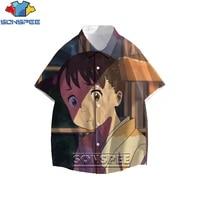 sonspee anime shirts men women your name japan movies protagonist cartoon character fashion casual harajuku shirt large size top