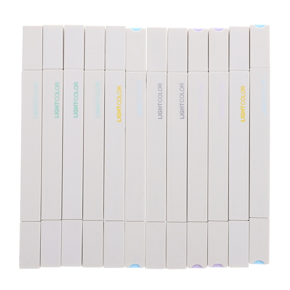 12 шт. портативные маркировочные ручки для студентов канцелярские принадлежности