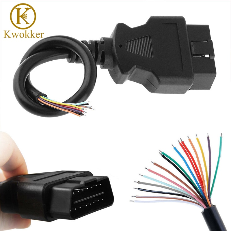 New 30CM/1.5M OBD2 II 16 Pin Male Extension Connector To Open Plug Wire Diagnostic Cable OBD 2 Cable Extension Core