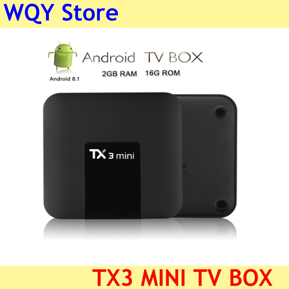 TX3 Mini Android 8.1 TV Box Smart TV H2.65 IPTV 4K Set Top Box TV BOX Media Player in  Europe  French USA Canada Saudi Arabic