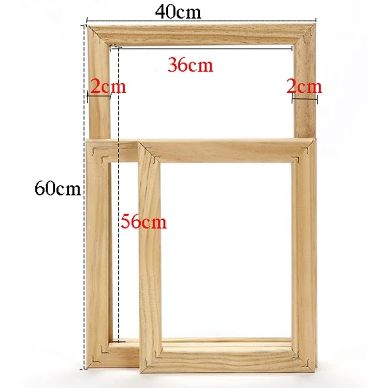 New Wood Frame For Canvas Oil Painting Factory Price Picture Nature DIY Frames For Diamond Painting Picture Wall Art Decor