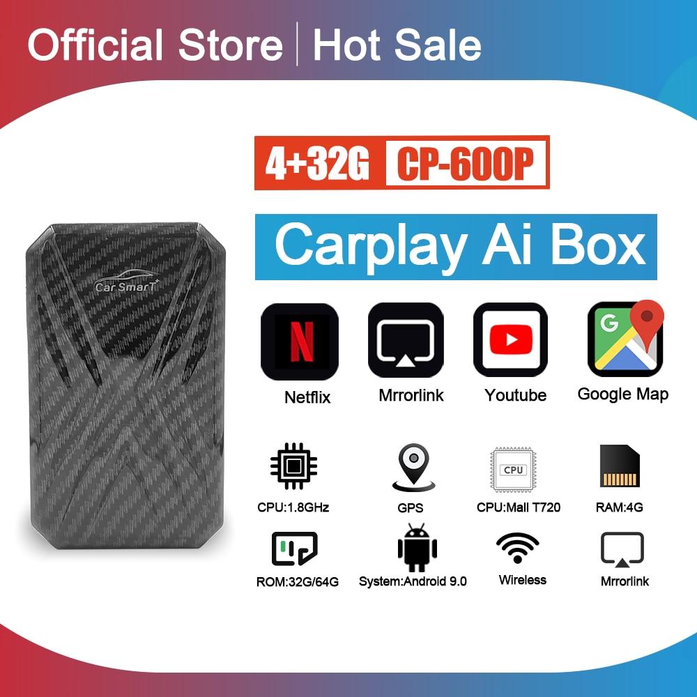 Автомобильная магнитола, 4 + 32 ГБ для Apple TV Box, Android, мультимедийный плеер, Carplay для системы Android, Plug and play Mirror link