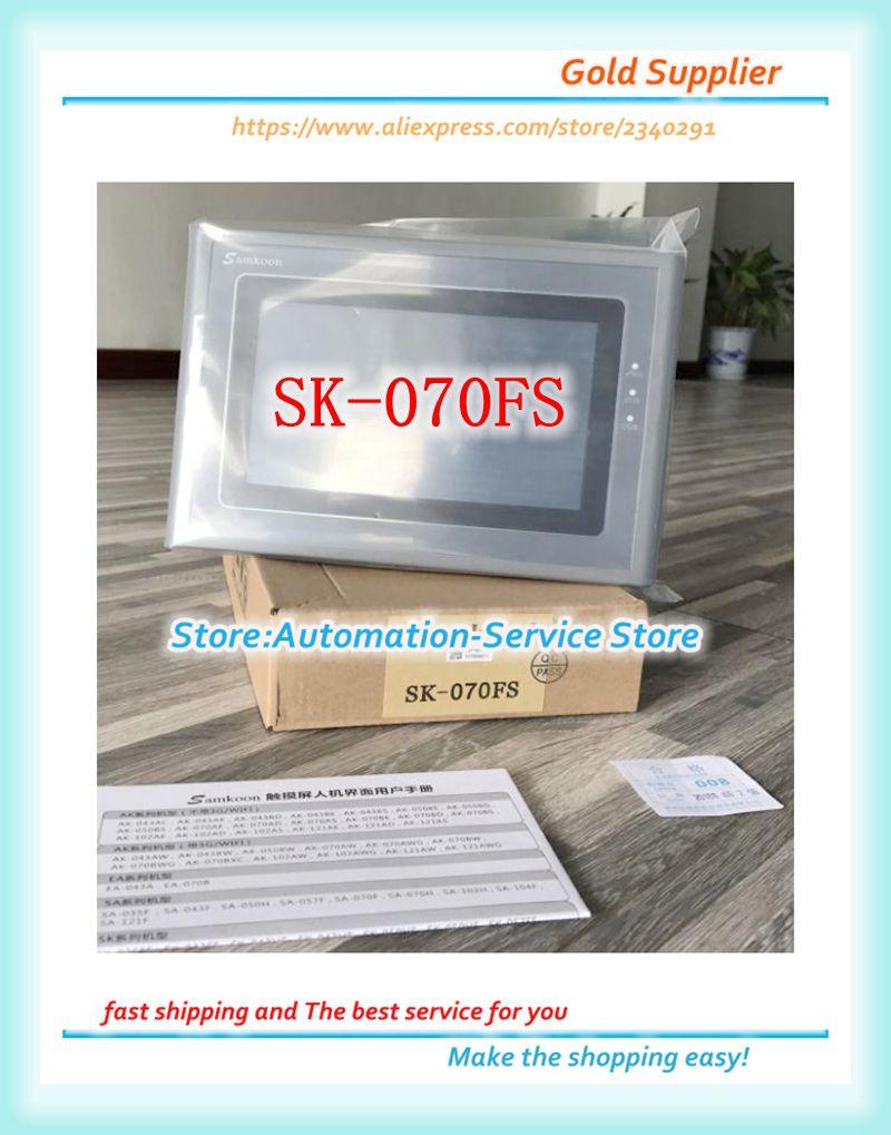 Neue Original SK-070FS Sk 070FS 7 Zoll Samkoon HMI Touch Screen Panel 800*480 Mit Ethernet