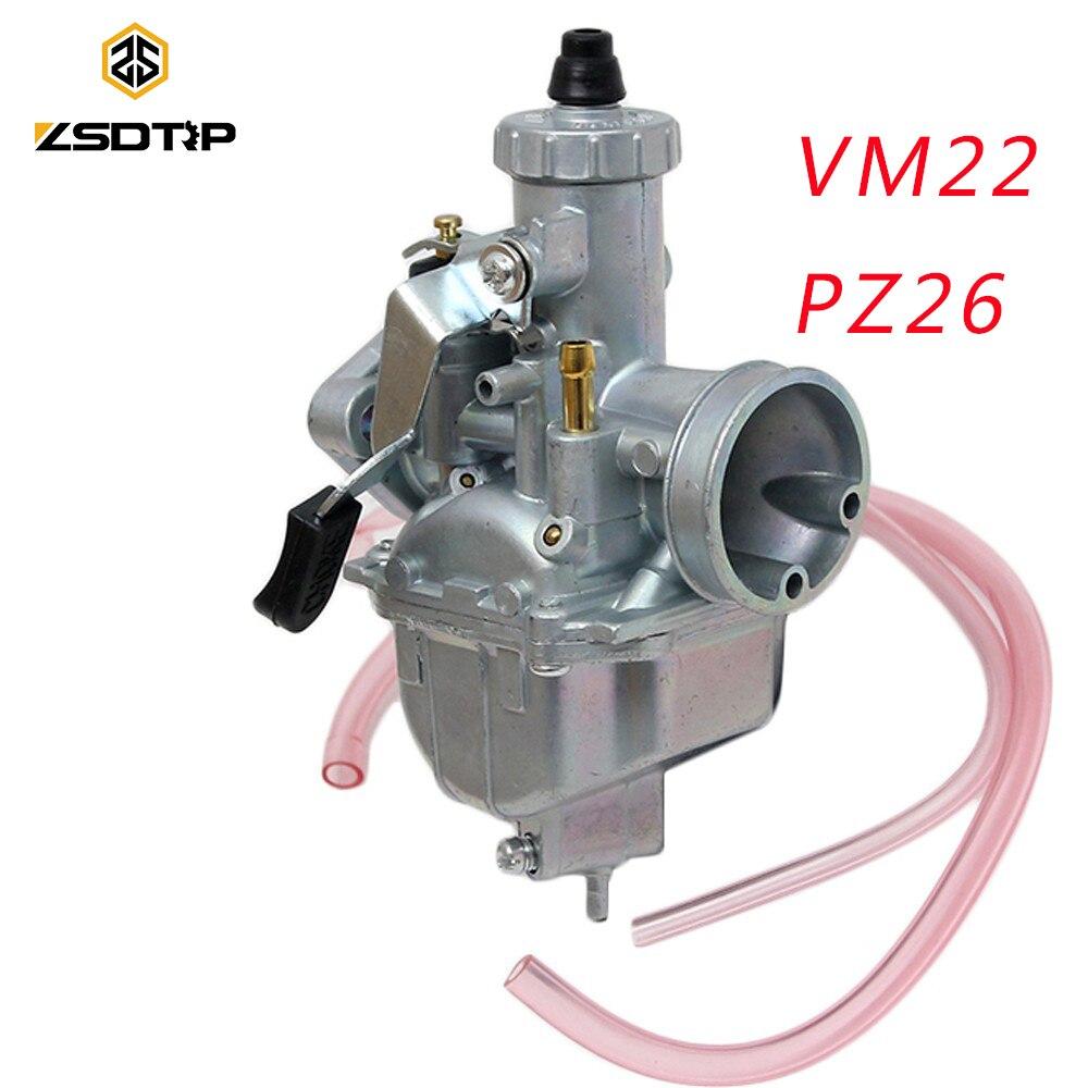 ZSDTRP PZ26 26mm VM22 Dirt Bike Pit Bike Mikuni VM22 Carburetor Performance For 125 140cc Horizontal Engine