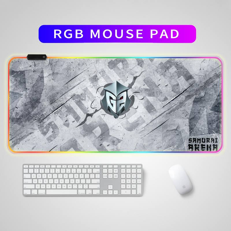 Защитный игровой коврик для мыши с логотипом G2, коврик для мыши в стиле аниме RGB, игровой коврик для клавиатуры и мыши, светодиодный коврик дл...