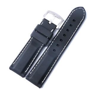 22mm 24mm Silicone Men Watchbands Wristwatch Strap Watch Band Watches Bracelet Accessories Watchbands
