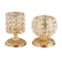 home decor crystal golden candle holder for dinning room wedding table centerpieces christmas thanksgiving housewarming