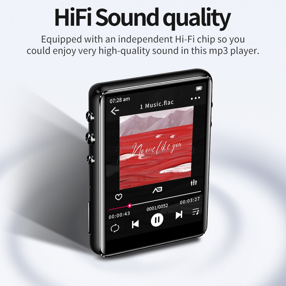 Original Metal Support Bluetooth 5.0 MP3 Player HiFi Music Player Built-in Speaker With E-book Recording /FM Radio/Video enlarge