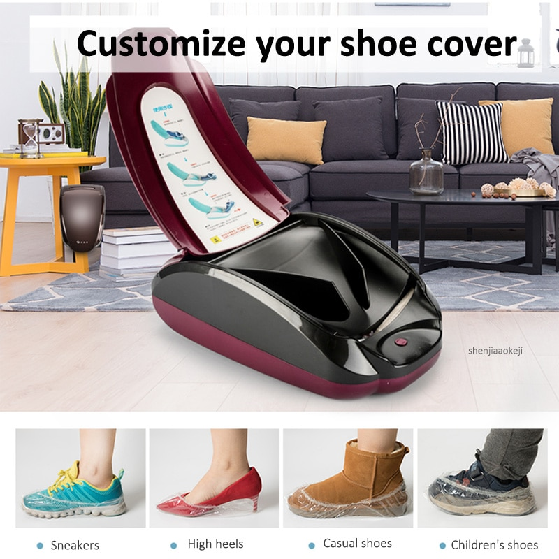 Intelligent Shoe Film Machine Home Automatic One-time Shoe Cover Machine With Using Memory Function 200pcs Shoes Cover